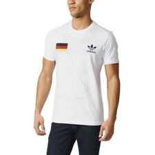 adidas ORIGINALS GERMANY CREW NECK T SHIRT WHITE FOOTBALL SOCCER RETRO NEW BNWT