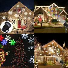 Moving LED Laser Projector Light Landscape RGB/White Outdoor Xmas Garden Lamp