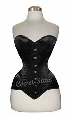 Heavy Duty Double Steel Boned Over Bust Waist Trainer Satin Corset N9-S