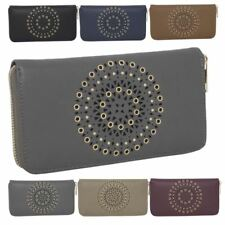 New Synthetic Leather Hollow Out Round Pattern Women's Large Purse