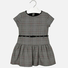 Mayoral Girls Prince of Wales Patterned Dress In Grey Check (4958). Aged 2-8