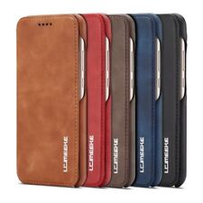 Luxury Real Genuine Leather Flip Wallet Card Holder Phone Case Cover For Huawei