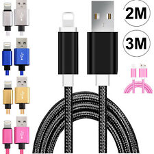 Strong Lightning Duty Braided 2M 3M USB Charger Cable For iPhone 6 6S 7 8 X IPad