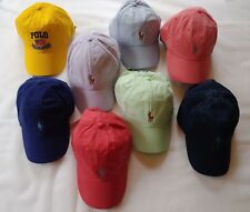 NEW Polo Ralph Lauren Baseball Cap Hat Small Pony Adjustable Strap Asst. Colors