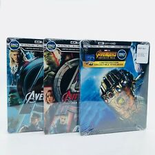 Avengers, Age Of Ultron, Infinity War 4K Ultra HD Blu-ray w Digital Steelbook