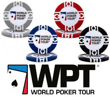 Official WPT World Poker Tour Chips - Set of 10 Poker Chips - Choose Your Colour