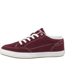 DuFFS Mens Strombolie Suede Shoes Burgundy