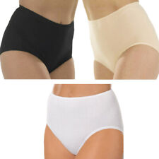 3,6 Pack Womens Knickers Plain Maxi Briefs Ladies Nude Underwear Cotton Lace