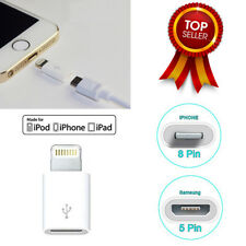 Samsung Micro USB 5pin Hembra a Apple iPhone5/6/6S / 6+ 8pin Adaptador Macho