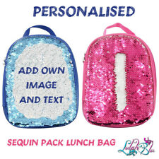 PERSONALISED Kids Sequin Pack Lunch Bag | Back to School | Lunch Box