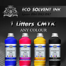 1-4 L CMYK  Colour Eco Solvent ink for Roland, Mimaki, Mutoh cleaner DX2/4/5/7