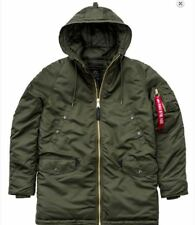 Alpha Industries N3-B Pm Giacca Bomber Pilota Verde Scuro Nuovo 168142/257
