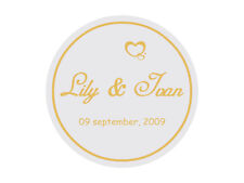 Personalised Round Envelope Seals / Stickers / Labels for Wedding Invitation