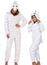 Cute, Cuddly Ladies, Kids Sparkle Star Unicorn Jumpsuit with 3D Horn and Mane