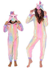 Cute, Cuddly Ladies, Kids Rainbow Print Unicorn Jumpsuit with 3D Horn and Mane