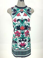 Laundry by Shelli Segal NWT MIDNIGHT Bead-Embellished Printed Shift Dress