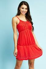 Red Strappy Diamante Mini Dress Womens Ladies New Bodycon Cocktail Party Evening