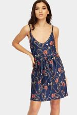 Blue Chain Print Mini Dress Womens Ladies New Bodycon Cocktail Party Evening