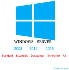 Windows Server 2008,2012,2016 Standard, Essentials, Datacenter, Enterprise, R2