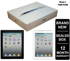 New & Sealed Box APPLE iPad 2, 2nd Gen Black White 16GB 32GB Tablet (WiFi Only)
