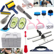 Tile Grout Drill Dust Brush Cleaner Glass Tube Car Window Squeegee Blade Lot