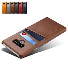 Ultra Slim Retro PU Leather Card Slot Business Back Phone Case Cover For Samsung