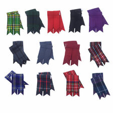 HM Scottish Kilt Sock Flashes various Tartans/Highland Kilt Hose Flashes pointed