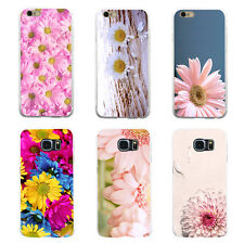 FJ- BEAUTIFUL DAISY FLOWER PHONE BACK CASE COVER FOR SAMSUNG S6 IPHONE 5 6S 7 HO