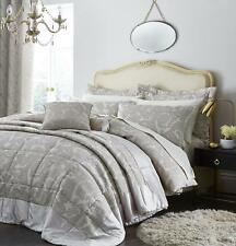 Catherine Lansfield Opulent Jacquard Champagne Duvet Set S/D/K/ and Accessories