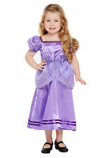 Toddler Purple Pretty Princess Costume Fancy Dress Sofia Maiden Rapunzel