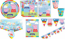 Peppa Pig Party Set New George Birthday Kids Childrens Plates Cups Invites Table