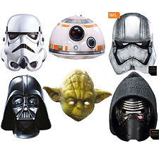 Star Wars Mask Character Disney Vader Yoda Kylo Ren Storm Fancy Dress Face Mask