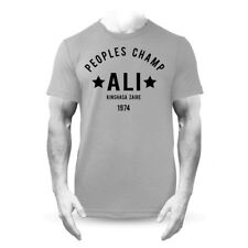Muhammad Ali Champion Rumble In The Jungle Boxeo Premium Camiseta Gris
