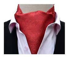 Men's Floral Paisley Patterned Self Ascot Classic Wedding Cravat Tie Dress Gifts