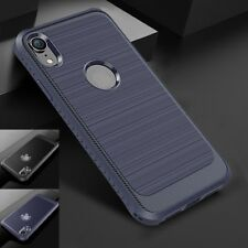 Luxury Brushed Carbon Fiber Soft Phone Case Cover For iPhone XS MAX XR X 8 7