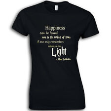 Happiness Can Be Found... Dumbledore Quote Ladies Womans Christmas Tee T-Shirt