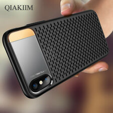 Luxury Slim Armor Honeycomb Heat Dissipation Stand Phone Case Cover For iPhone