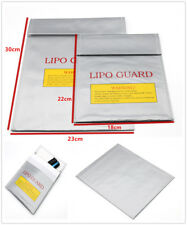 HOT RC LiPo Battery Safety Bag SafeGuard Charge Fireproof Sack 2Size Silver hhbb