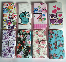 Abatible Cartera Piel Funda para APPLE IPHONE 4 4S 5 5S 5C 6 6 Plus
