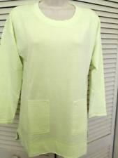 SOFT SURROUNDINGS Afternoon Walk Tunic Top- Soft Lime SZ PS,PM,PL,PXL