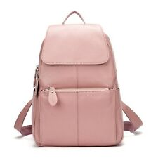 Real Leather Backpack School Travel Rucksack Women Bag Soft Book Satchel Bags