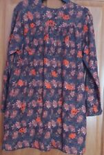 ZARA Brown / orange Floral Embroidered Tunic Short Dress With Pocket  SIZES XS&S