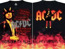 AC DC-HELL-2 SIDED-TIE DYE T SHIRT S-M-L-XL-2X-3X,4X,5X,6X Angus,Highway To Hell