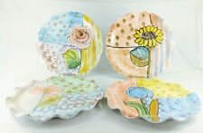 "Italica ARS Art Pottery Ruffled Dinner Plate(s) 11"" Floral - Your Choice!"