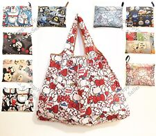 Cute Cartoon Foldable Reusable Grocery Shopping Tote Bag