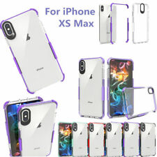 Ultra Slim Clear Hybrid Color Frame Soft Phone Case Cover For iPhone X XS XR MAX