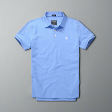 2018 New Abercrombie & Fitch Summer Men Muscle fit Blue Polo shirt Size S-XXL