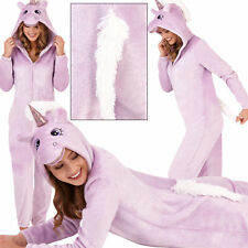 Ladies Womens Lilac Sparkle Unicorn Onezee with 3D Horn and Mane, UK 8-20
