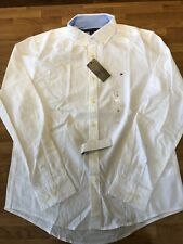 Mens Tommy Hilfiger Long Sleeve Shirt White Size S-XL
