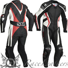 LINDSTRANDS HYPER  1 PIECE MOTORCYCLE RACE RACING LEATHER SUIT BLACK RED